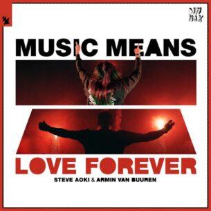 Steve Aoki Armin van Buuren Music Means Love Forever